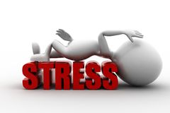 d-man-stress-concept-white-background-front-angle-view-43259105